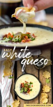 white queso pinterest collage