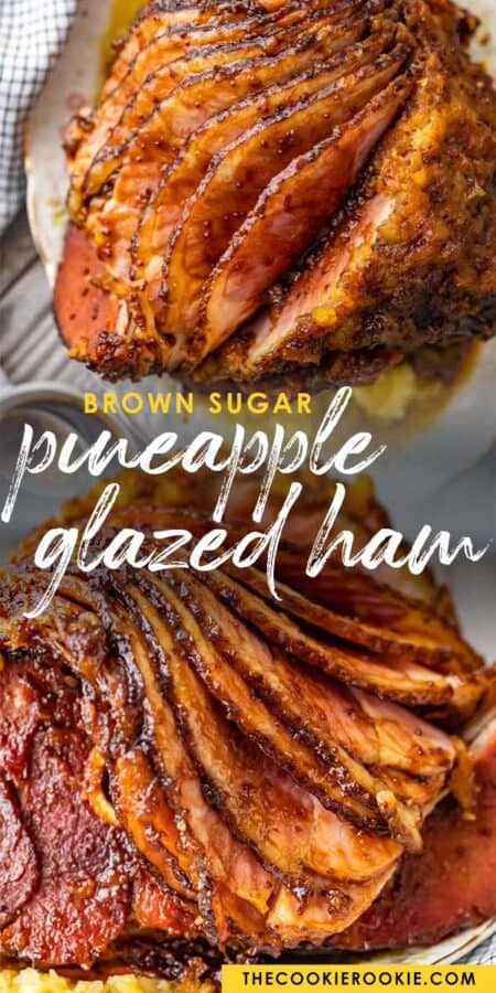 pineapple glazed ham pinterest collage
