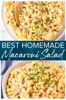 homemade macaroni salad pinterest collage