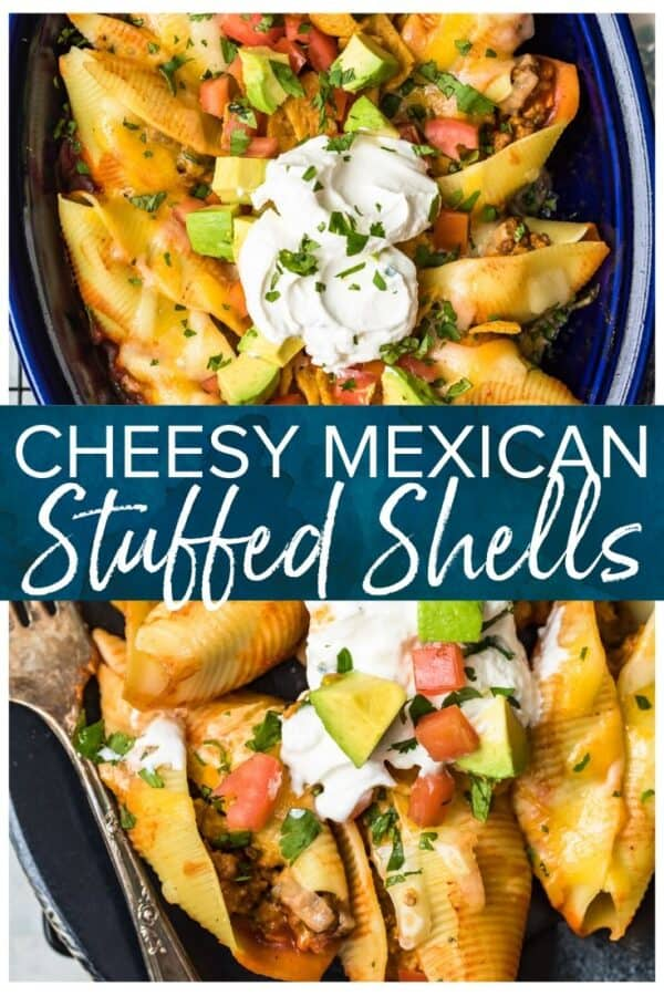 mexican stuffed shells pinterest image