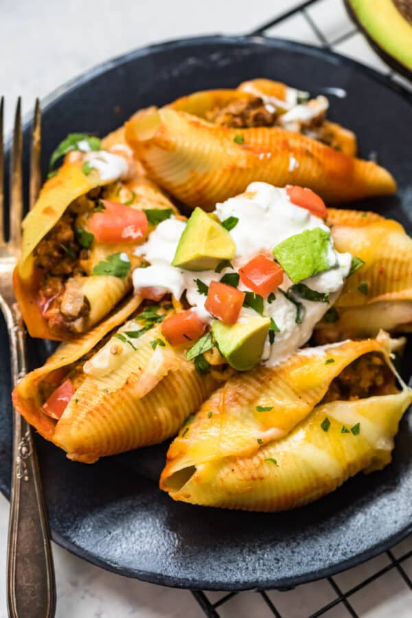 avocado on Mexican Stuffed Shells