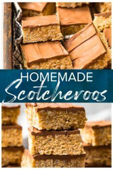 homemade scotcheroos pinterest collage