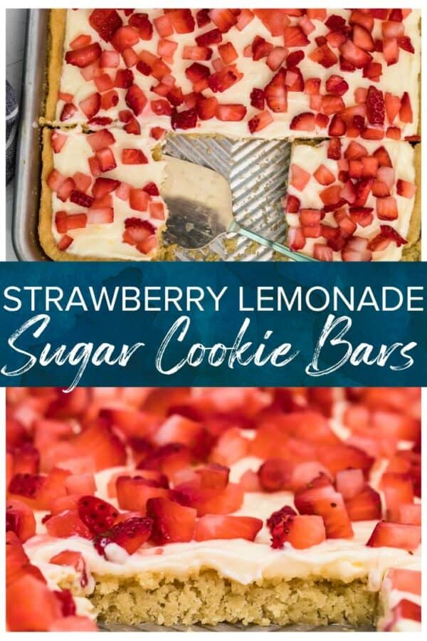 strawberry lemonade sugar cookie bars pinterest collage