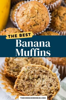 banana muffins pinterest collage