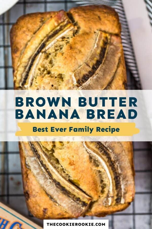 brown butter banana bread pinterest