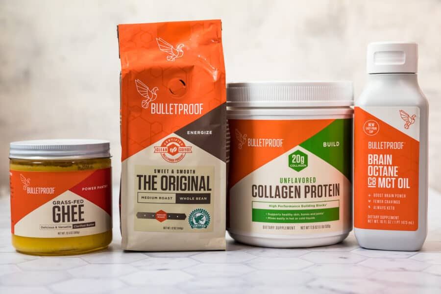 ingredients to make bulletproof coffee