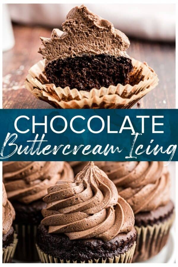 chocolate buttercream icing pinterest collage