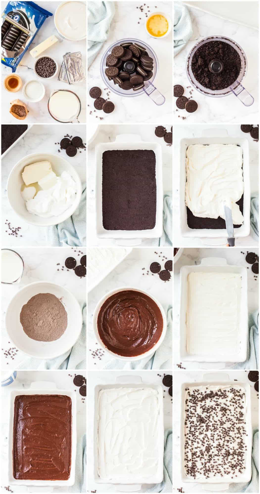 step by step photos of how to make chocolate lasagna