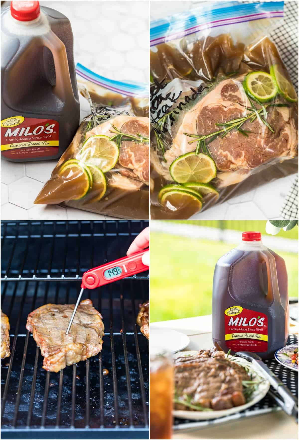 step by step photos for how to make marinated steaks
