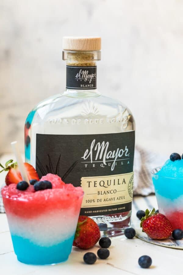 el mayor tequila next to margarita slushie