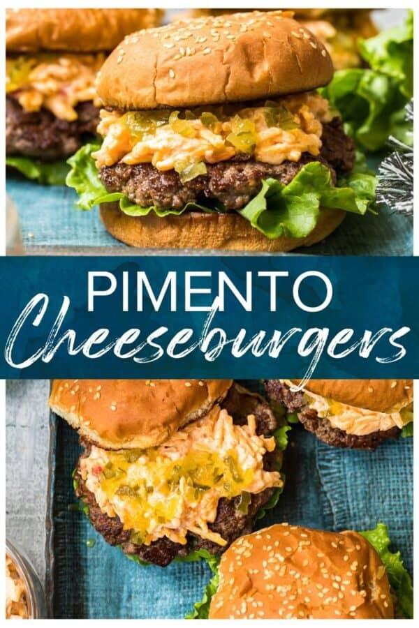 pimento cheeseburgers pinterest collage