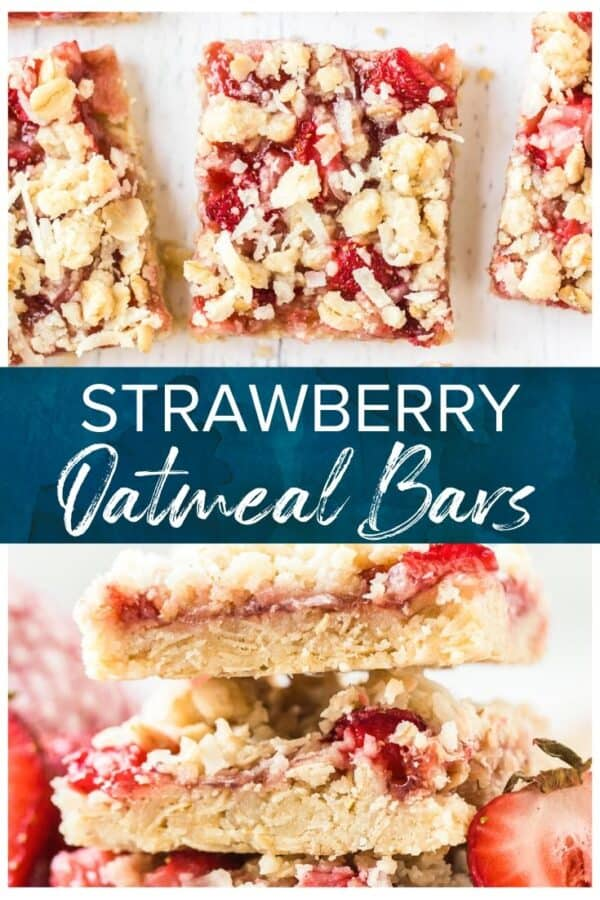 strawberry bars pinterest collage