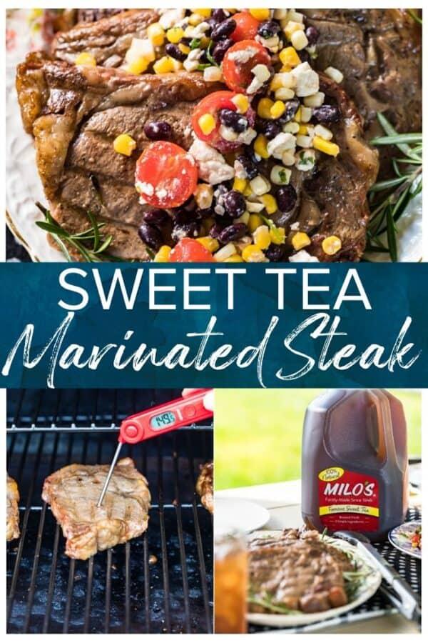 sweet tea marinated grilled steaks pinterest