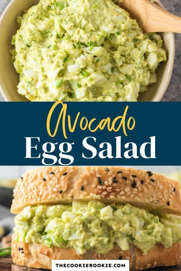avocado egg salad pinterest collage