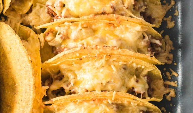 baked ground beef baked tacos in dish