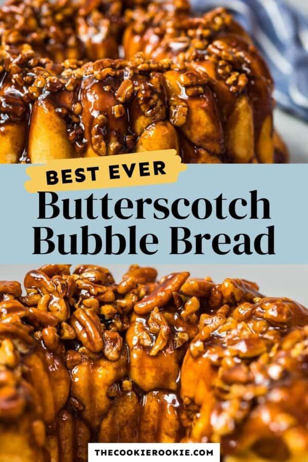 butterscotch monkey bread pinterest