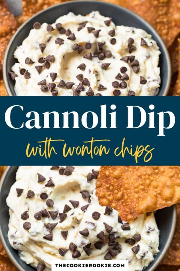 cannoli dip with wonton chips pinterest