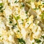 up close image of potato salad