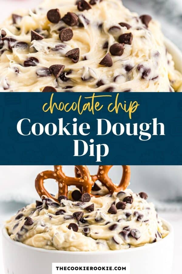 cookie dough dip pinterest collage