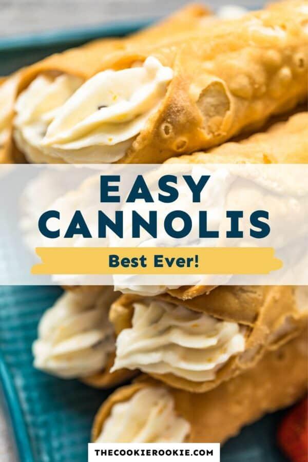 easy cannolis pinterest