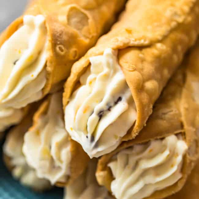 up close image of cannoli cream with orange, ginger, and chocolate chips
