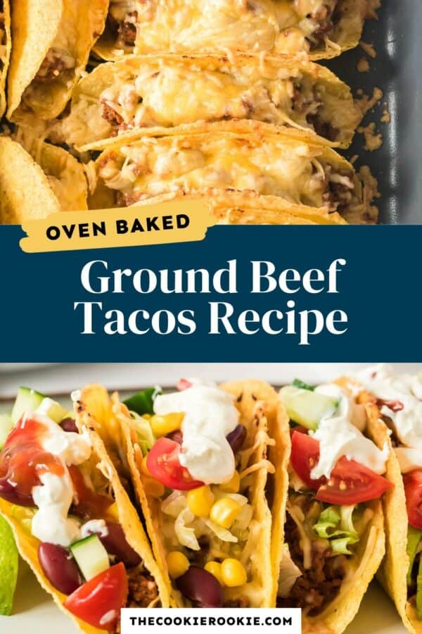 baked ground beef baked tacos pinterest collage