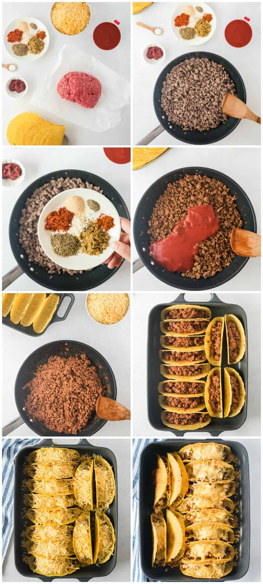 step by step photos of how to make beef tacos