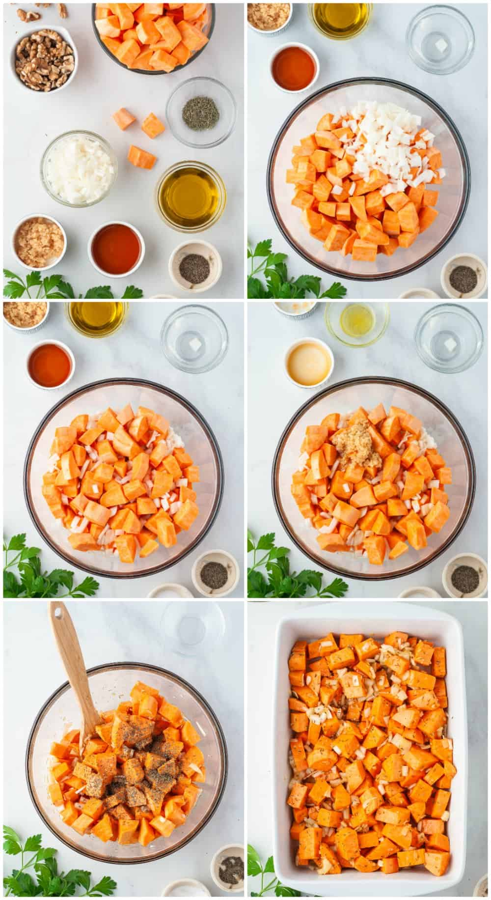 step by step photos of how to make roasted sweet potatoes