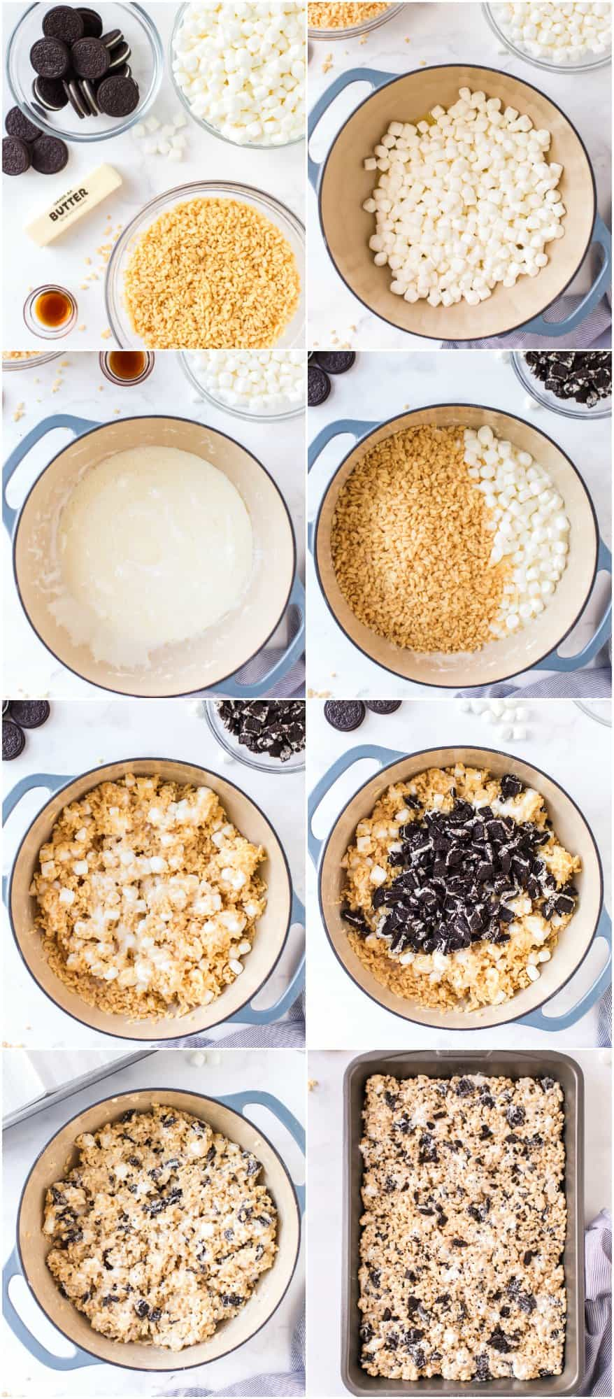 how to make oreo rice krispie treats