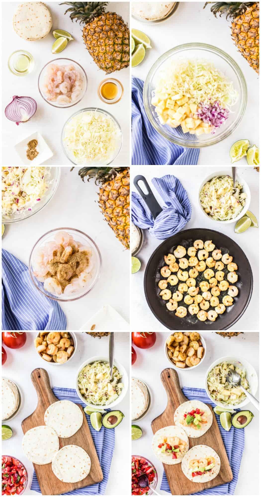 step by step photos of how to make shrimp tacos