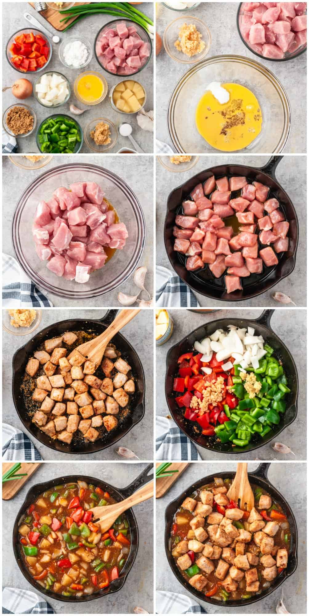 step by step photos for how to make sweet and sour pork