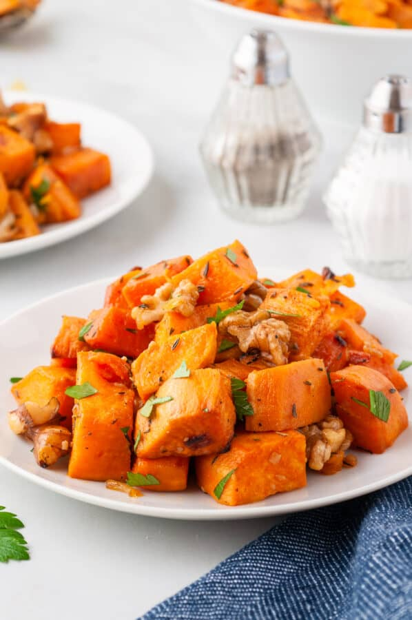 side image of sweet potatoes in bowls