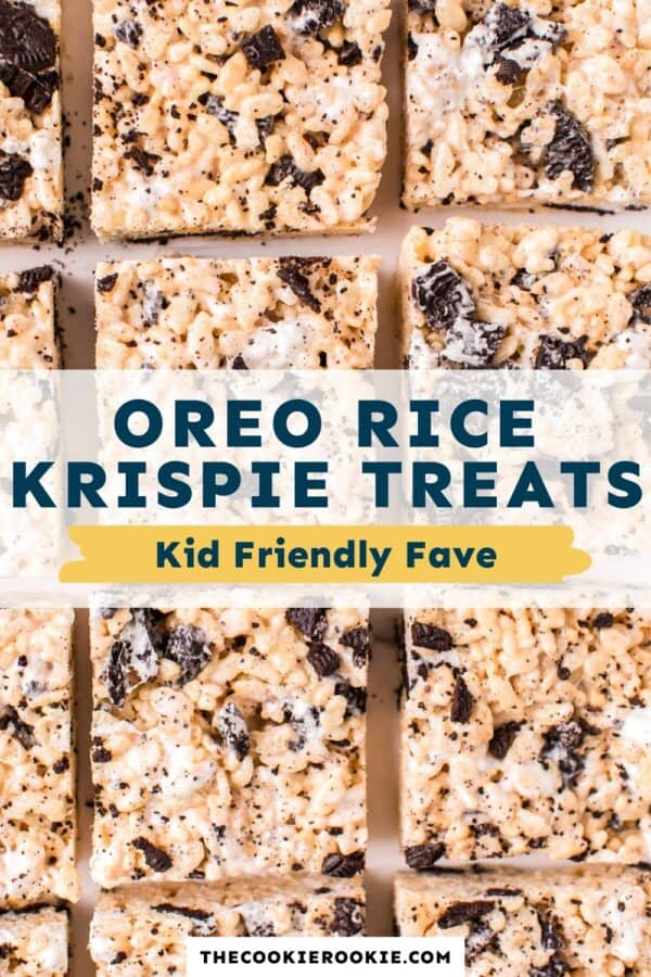 oreo rice krispie treats pinterest collage