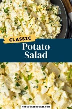 classic potato salad pinterest collage