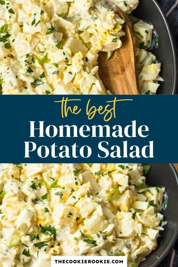 classic potato salad pinterest collage