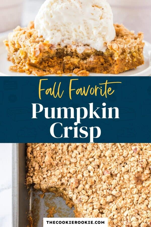 pumpkin crisp pinterest collage