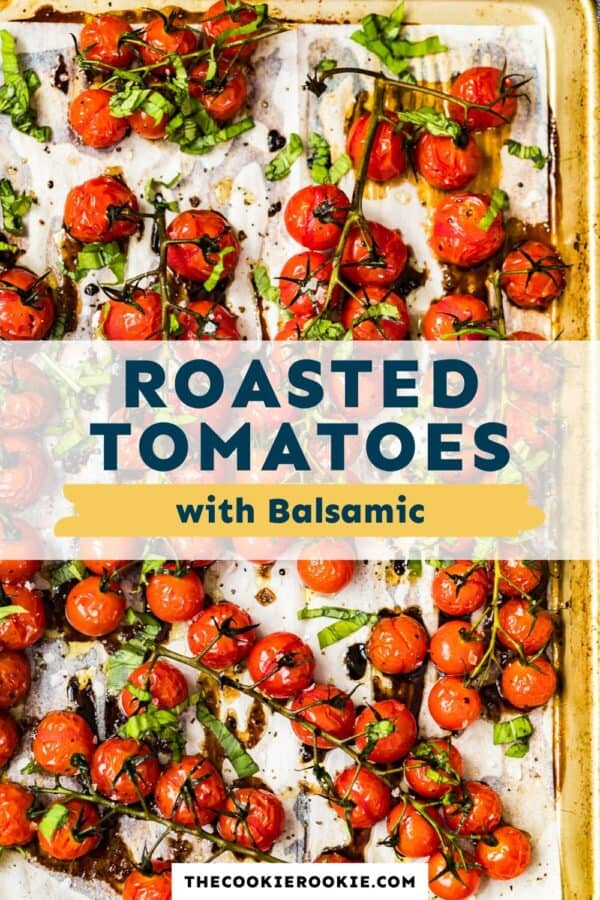 roasted tomatoes with balsamic pinterest