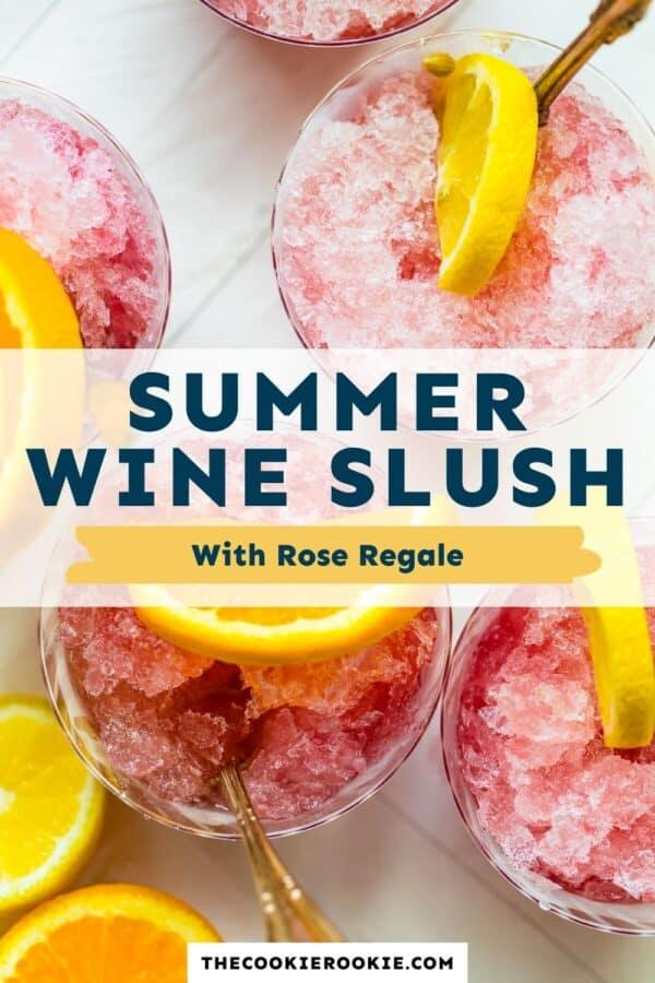 summer wine slush pinterest