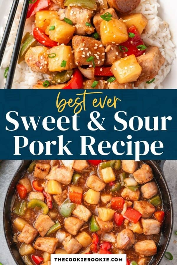 sweet and sour pork pinterest collage
