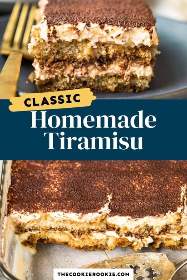 tiramisu recipe pinterest collage