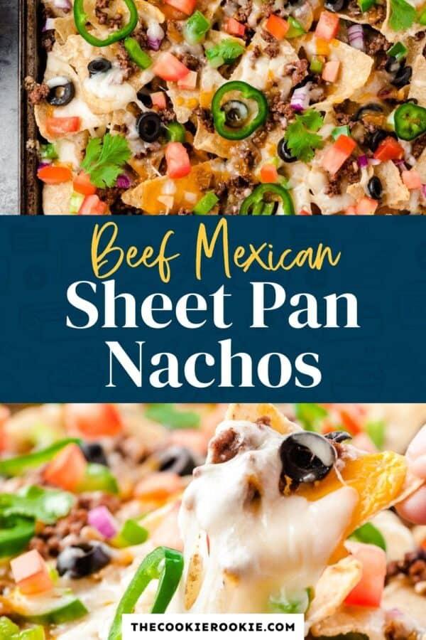 beef sheet pan nachos pinterest