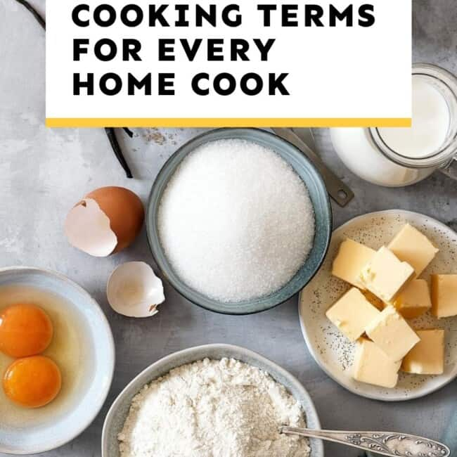 cooking terms for home cook