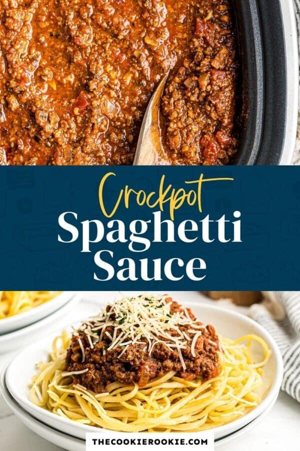 crockpot spaghetti sauce pinterest