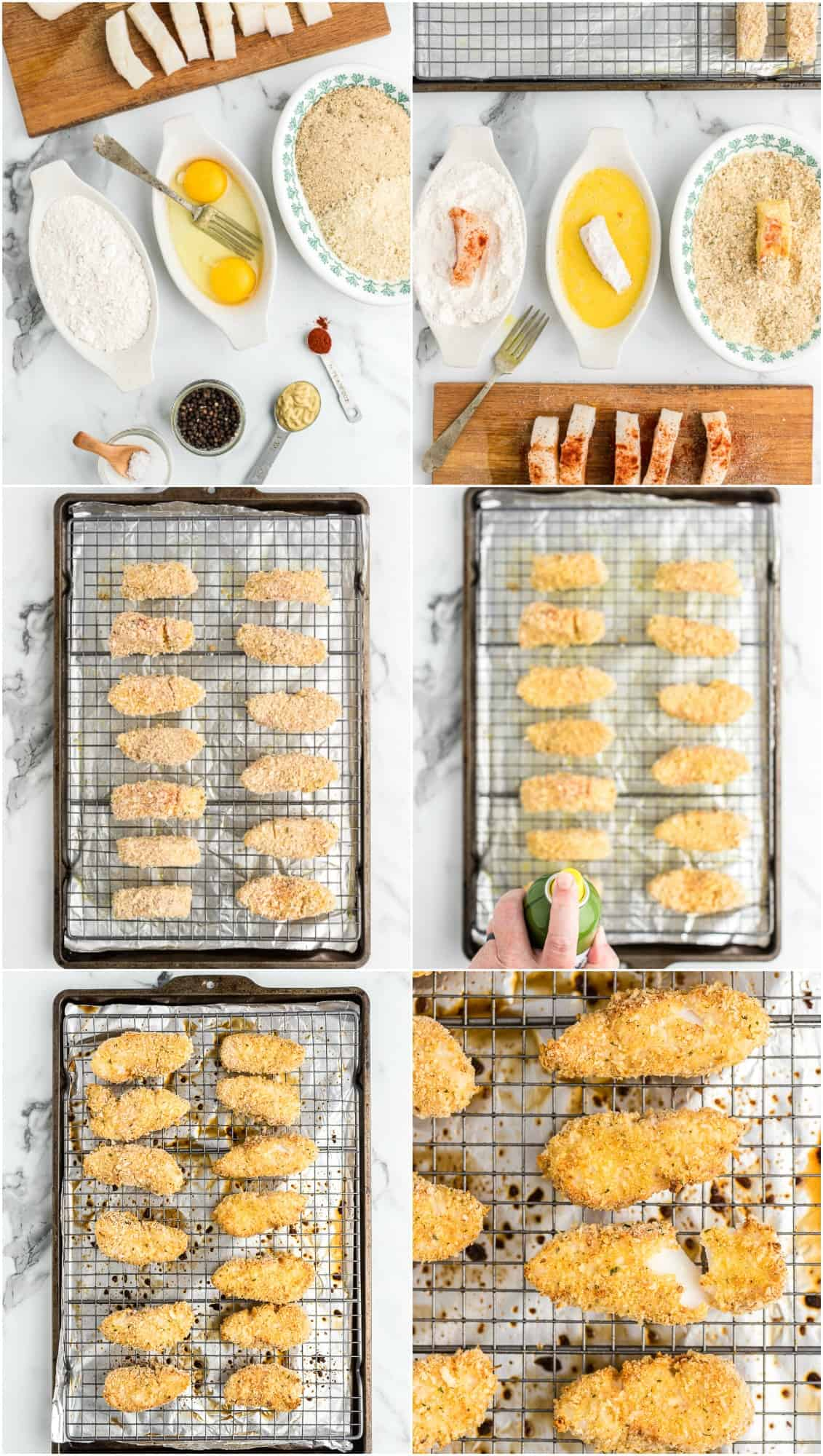 step by step photos of how to make fish sticks