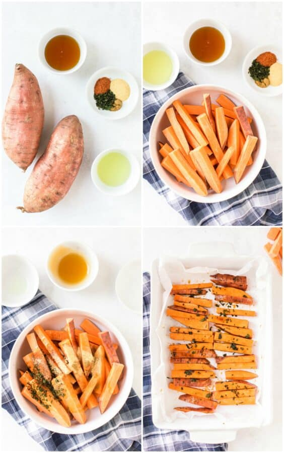 how to make sweet potato fries step by step photos
