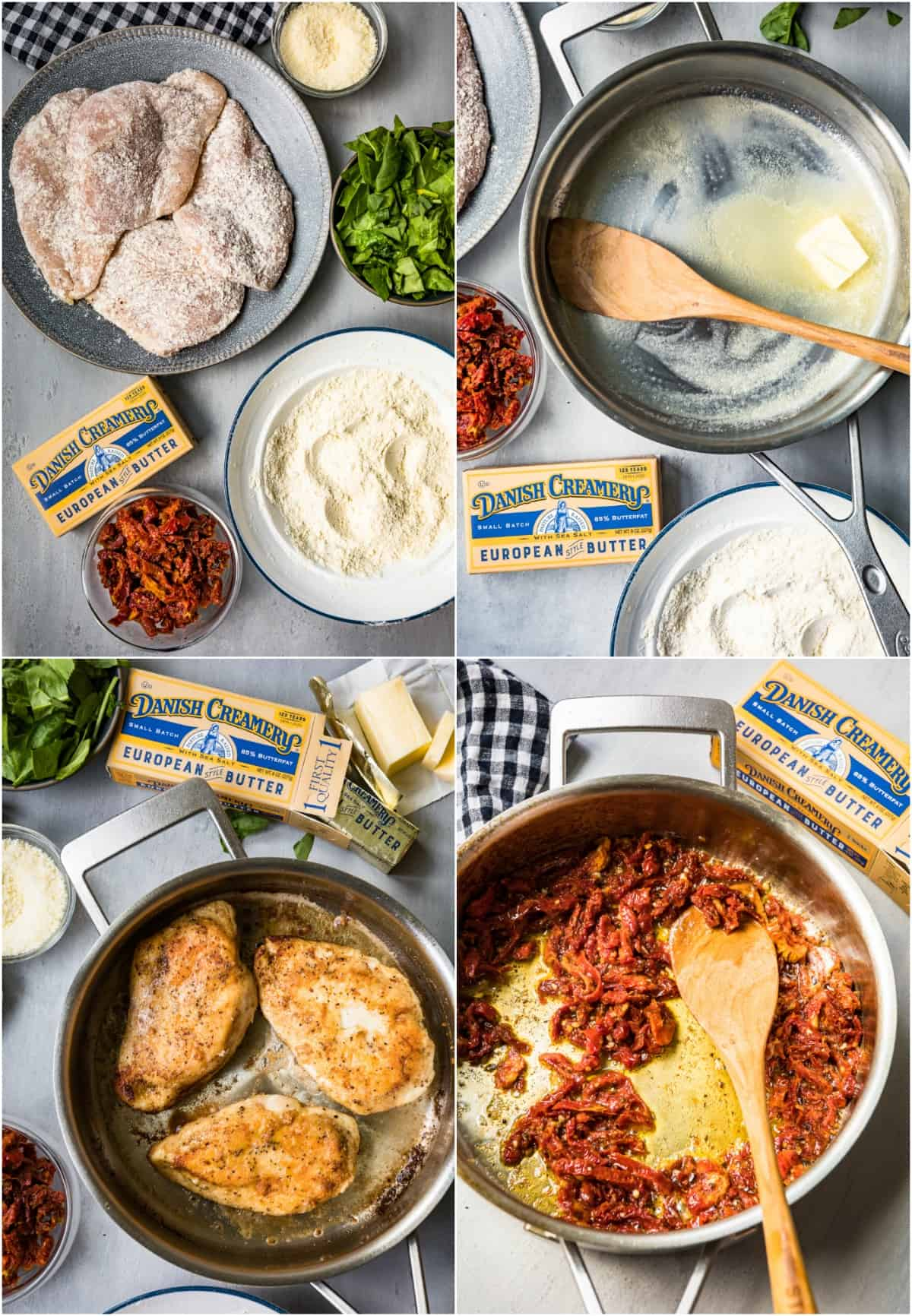 step by step photos of how to make tuscan chicken