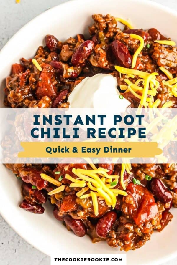 instant pot chili pinterest collage