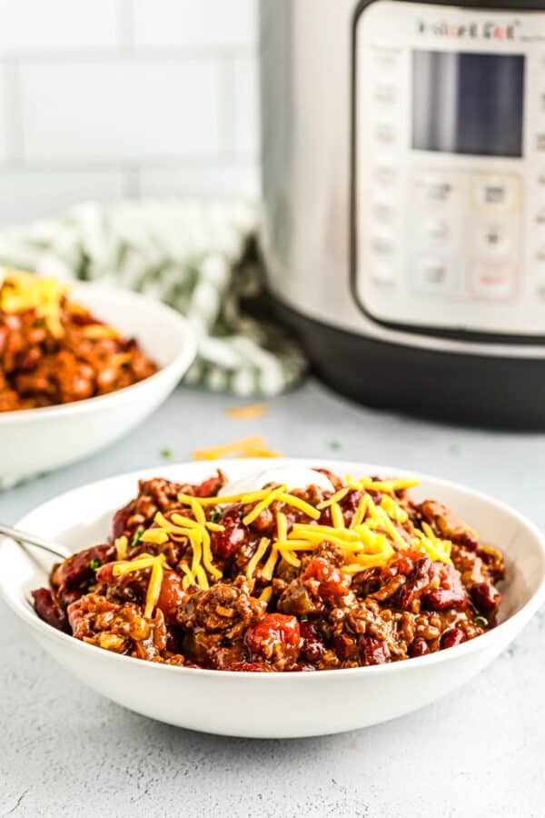 chili next to instant pot