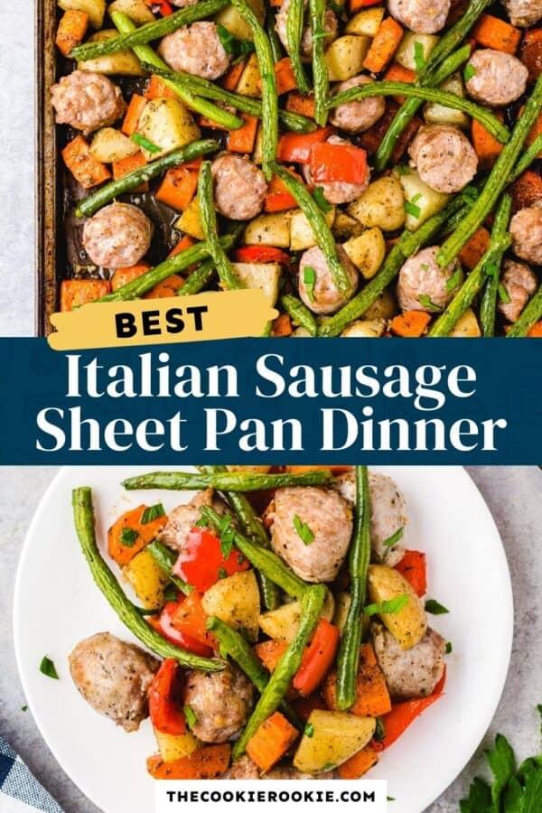 Italian Sausage Sheet Pan Dinner Pinterest