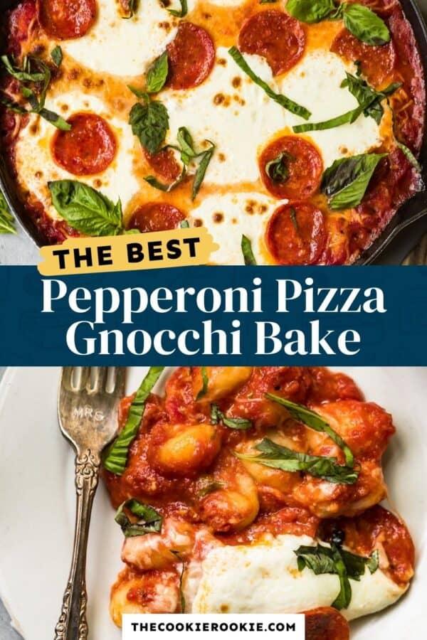 pepperoni pizza gnocchi bake pinterest